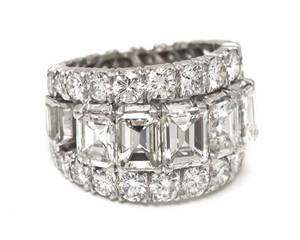 A Platinum and Diamond Double Eternity Band