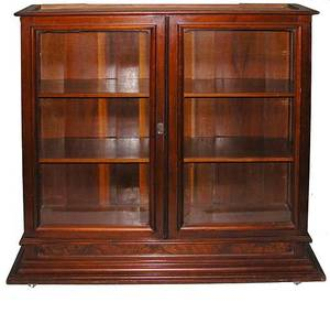 473A American 19th Century Marble Top Bookcase