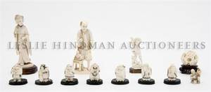 A Collection of Asian Ivory Figures