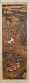 A Chinese Painting of a Spotted Deer