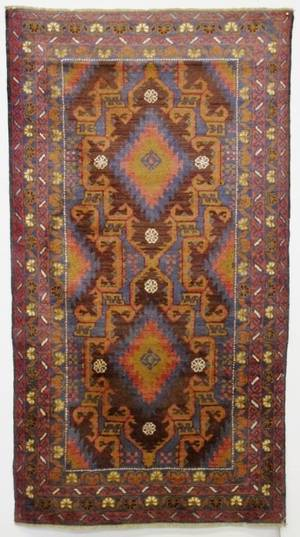 Hand Woven Semi Antique Balochi Rug