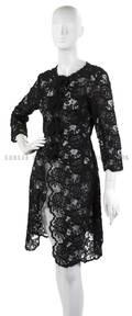 An Oscar de la Renta Black Lace Dress Jacket