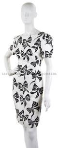 A Carolina Herrera Black and White Bow Day Dress