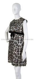 A Bob Bugnand Leopard Sequin Evening Dress