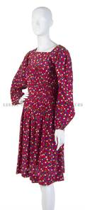 An Yves Saint Laurent Red Floral Day Dress