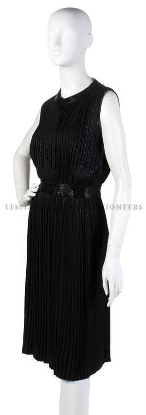 A Black Beaded Cocktail Dress