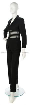A Jean Paul Gaultier Black Crepe Pant Suit