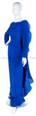 A Carolina Herrera Blue Silk Gown