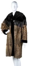An Yves Saint Laurent Brown Fur Coat