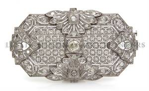 An Art Deco Platinum and Diamond Brooch