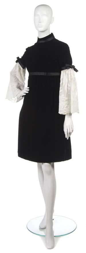 A Geoffrey Beene Black Velvet Dress