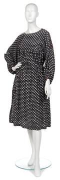 A Joan Vass Black Silk Peasant Dress