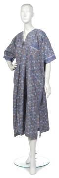 A Joan Vass Multicolor Cotton Ikat Kaftan
