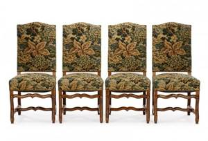 Set of 4 Louis XIV Style Side Dining Chairs