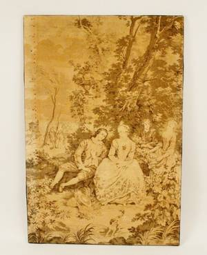 Continental Grisaille Figural Tapestry Panel
