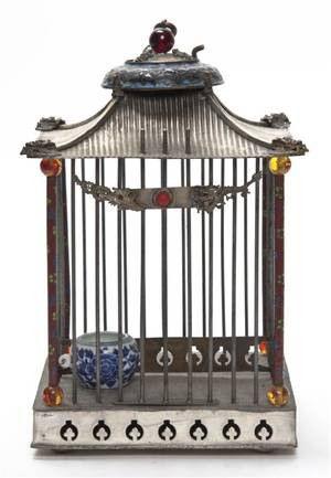 A Chinese Cloisonne Birdcage