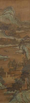A Chinese Landscape Painting on Silk