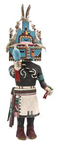 A Hopi Carved Cottonwood Root Kachina Doll