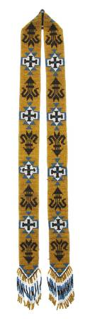 A Native American Beaded Sash