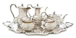 An English Silver Presentation Tea Service Atkin Brothers
