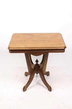 Victorian Eastlake Walnut Parlor Table