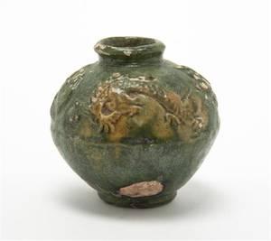 A Chinese Glazed Pottery Vessel