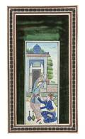 A Persian Miniature Painting on Ivory