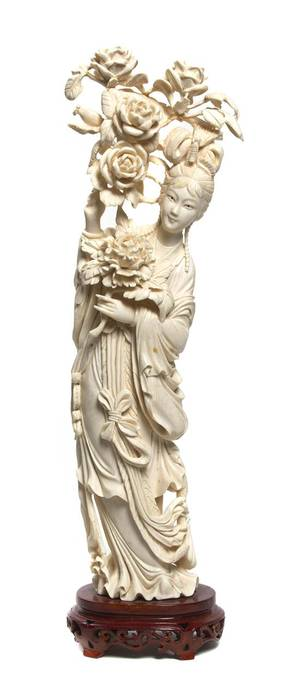 A Chinese Ivory Carving