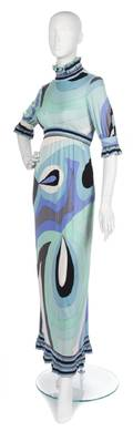 An Emilio Pucci Silk Jersey Maxi Dress