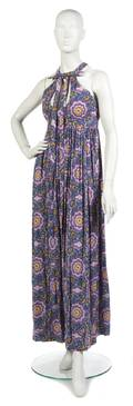 A Geoffrey Beene Floral Cotton Maxi Dress