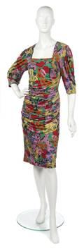 An Ungaro Floral Jersey Dress