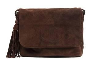 A Chanel Brown Suede Bag
