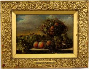 Adrianus Bouman Still Life with Fruit Oil