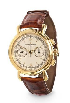 An 18 Karat Yellow Gold Historique Chronograph Wristwatch Vacheron Constantin