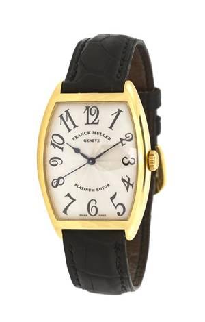 An 18 Karat Yellow Gold Ref 2852 Cintree Curvex Wristwatch Franck Muller