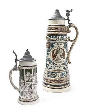 A German FiveLiter Ceramic Stein
