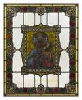 An American Leaded and Stained Glass Window