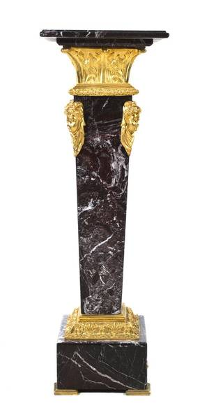 A Continental Marble and Gilt Bronze Mounted Column