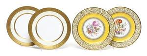 A Set of Six Bavarian Service Plates