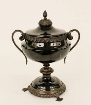 Black Marble  Bronze Mounted Urn