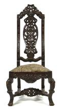 A Renaissance Revival Carved Hall Chair