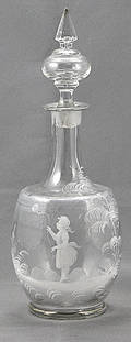 62 Antique Mary Gregory Crystal Decanter
