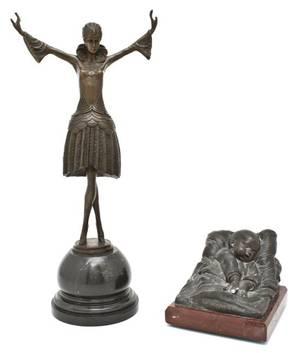 A French Bronze Sculpture E Robert