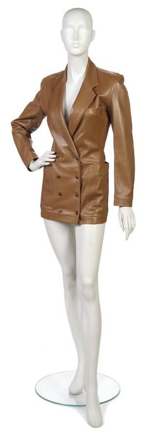 An Alaia Tan Leather Jacket