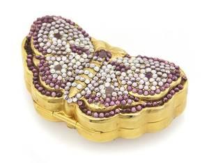 A Judith Leiber Butterfly Pill Box