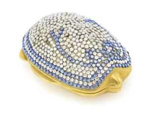 A Judith Leiber Turtle Pill Box