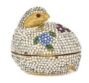 A Judith Leiber Bird Pill Box