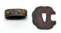 97 Primitive Iron Tsuba and Ferrule