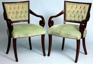 99 Pair Regency Style Armchairs