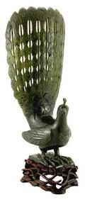 86 Carved Jade Peacock